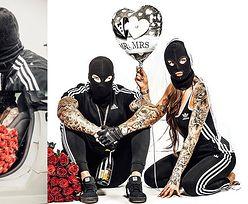 """Kominiarki, przebrany pies i czerwone róże.  Tak wyglądał """"gangsterski"""" ślub Majewskiego i Deynn (ZDJĘCIA)"""