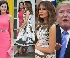 Hiszpańska para królewska na sztywnym spotkaniu z Melanią i Donaldem w Białym Domu (ZDJĘCIA)