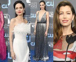 Tłum gwiazd na gali Critics' Choice Awards: różowa Kidman, srebrna Gadot, Jolie w piórach... (DUŻO ZDJĘĆ)
