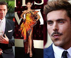 Elegancki Hugh Jackman, wystrojona Zendaya i zamyślony Zac Efron promują film w Australii (ZDJĘCIA)