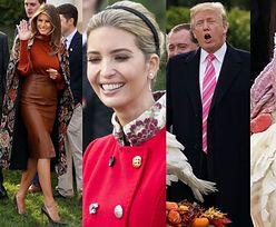 Stylowa Melania, przejęty Donald i radosna Ivanka ułaskawiają indyka (ZDJĘCIA)