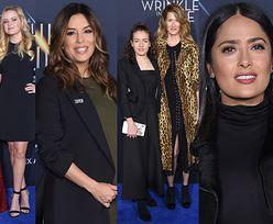 Reese Witherspoon i Laura Dern z córkami, ciężarna Eva Longoria i mroczna Salma Hayek na premierze (ZDJĘCIA)