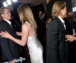 """Ekspertka od mowy ciała analizuje spotkanie Jennifer Aniston i Brada Pitta: """"Sprawiają wrażenie, jakby przeznaczenie popychało ich w swoje ramiona"""""""