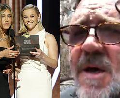 """Złote Globy 2020. Jennifer Aniston o Australii w imieniu nieobecnego Russella Crowe'a: """"Tragedia, która ma miejsce, ma źródło w zmianach klimatycznych"""""""
