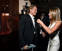 Brad Pitt i Jennifer Aniston na rozdaniu SAG Awards. Podekscytowany aktor ZA KULISAMI ogląda przemówienie byłej żony