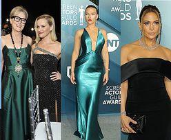 Tłum gwiazd na SAG Awards 2020: triumfująca Renee Zellweger, szczupła Meryl Streep, błyszcząca Scarlett Johansson, elegancka Jennifer Lopez... (ZDJECIA)