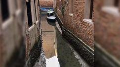 Kanały w Wenecji niemalże bez wody. Dramatyczna sytuacja w mieście