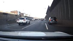 Wypadek na autostradzie. Wszystko nagrała samochodowa kamera