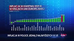Rekordowa inflacja. Polska z prawie najwyższym wzrostem cen w Unii Europejskiej