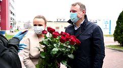 Jacek Kurski odbiera Joannę Kurską ze szpitala