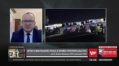 Prof. Adam Bodnar ocenia działania policji. Rzecznik Praw Obywatelskich jest zaniepokojony