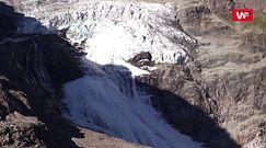 Topnienie szwajcarskiego lodowca. Dramatyczne nagranie z Alp