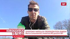 """Koronawirus. Marcin Lewandowski trenuje w ogrodzie. """"Była propozycja treningów w Spale"""""""