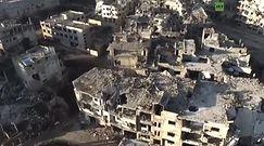 """""""Martwe"""" miasto w Syrii. Zobacz zbombardowane Hims z lotu ptaka"""
