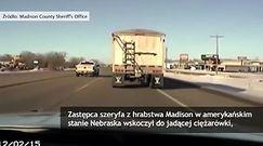 Ciężarówka jechała 20 kilometrów z nieprzytomnym kierowcą