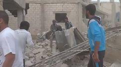 Amatorskie nagranie skutków rosyjskiego bombardowania w Syrii