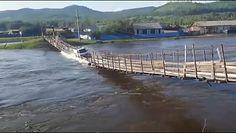 Samochód dostawczy wpadł do rzeki. Szokujące nagranie wypadku w Rosji