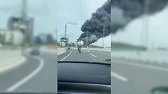 Niemcy. Wybuch w zakładach Bayera słup ognia widoczny jest z kilku kilometrów