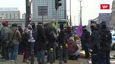 Protest klimatyczny w Warszawie. Centrum zablokowane