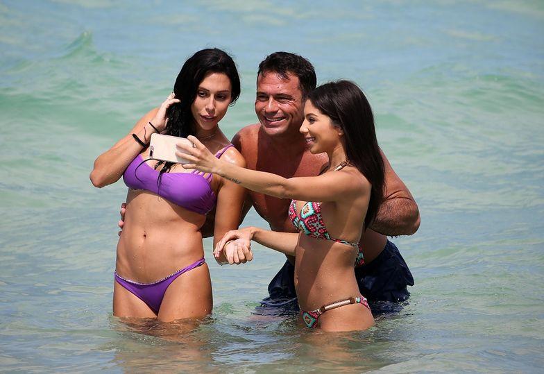Romain Zago świetnie się bawił na plaży w Miami