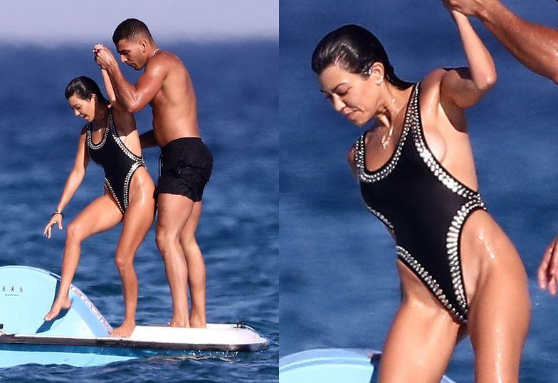 Kourtney Kardashian z chłopakiem w Saint-Tropez