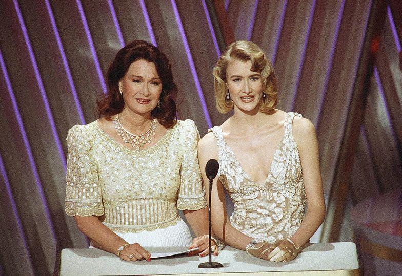 Laura Dern z matką, Diane Ladd, na gali rozdania Oscarów, 1992