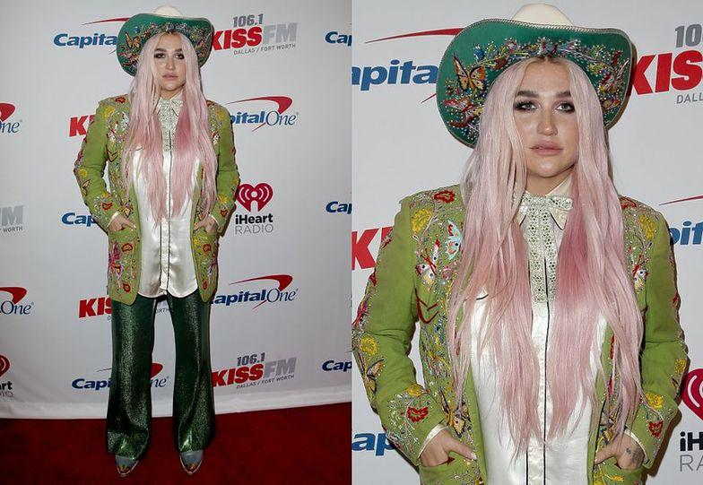 Kesha z różowymi włosami wraca na scenę