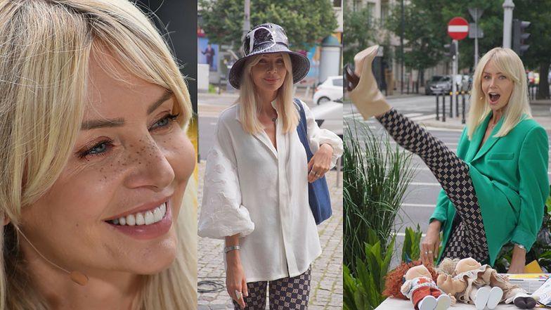 """Agnieszka Woźniak-Starak w DWÓCH stylizacjach przed studiem """"DDTVN"""". Która lepsza? (ZDJĘCIA)"""