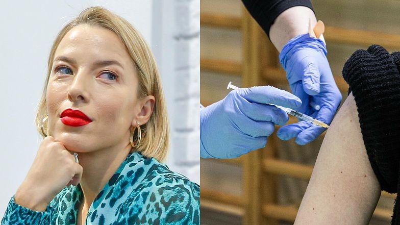 """Ewa Chodakowska wystawia ramię do szczepionki w stylizacji za ponad 8 tysięcy złotych: """"To mój OBOWIĄZEK"""""""