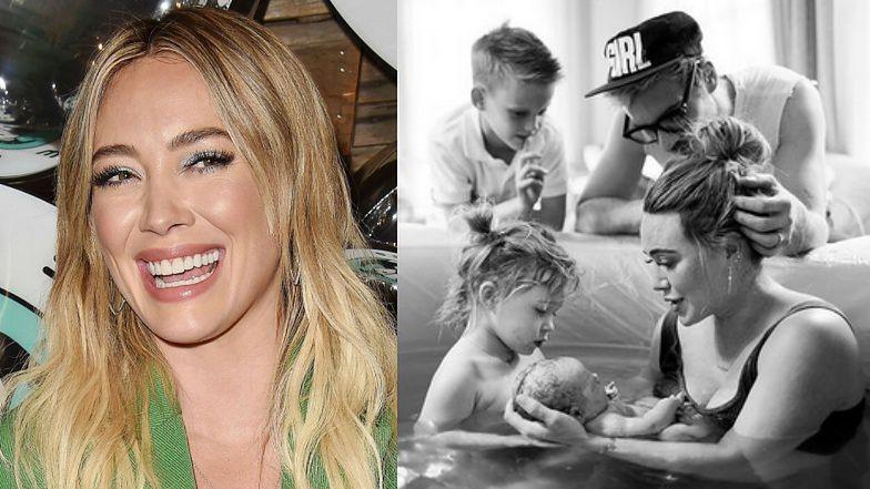 """Hilary Duff chciała, by jej 9-letni syn BYŁ PRZY PORODZIE! """"Wszedł do pokoju w momencie, gdy wydałam córkę na świat"""""""