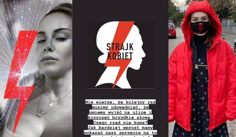 Gwiazdy wspierają Strajk Kobiet (ZDJĘCIA)