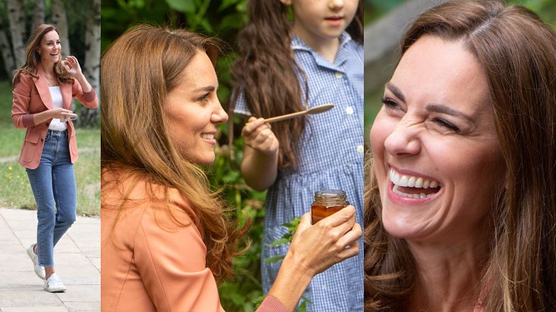 Księżna Kate promuje kontakt z przyrodą, częstując dzieci miodem Z WŁASNEGO ULA (ZDJĘCIA)