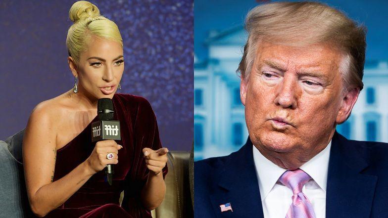 """Lady Gaga ostro o Donaldzie Trumpie: """"Wiadomo, że jest GŁUPCEM I RASISTĄ"""""""