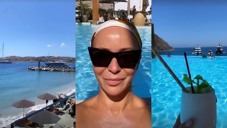 Joanna Przetakiewicz w końcu poleciała na Mykonos. Wkrótce zatańczy na stole? (ZDJĘCIA)