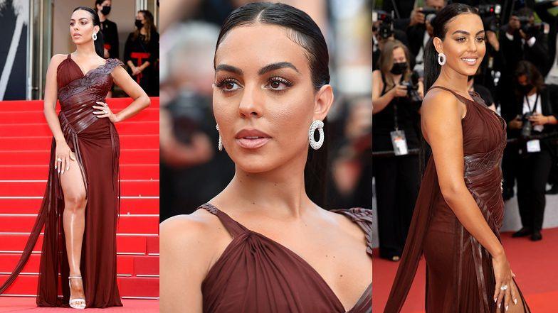 Georgina Rodriguez BŁYSZCZY w Cannes w kreacji godnej starożytnej bogini (ZDJĘCIA)