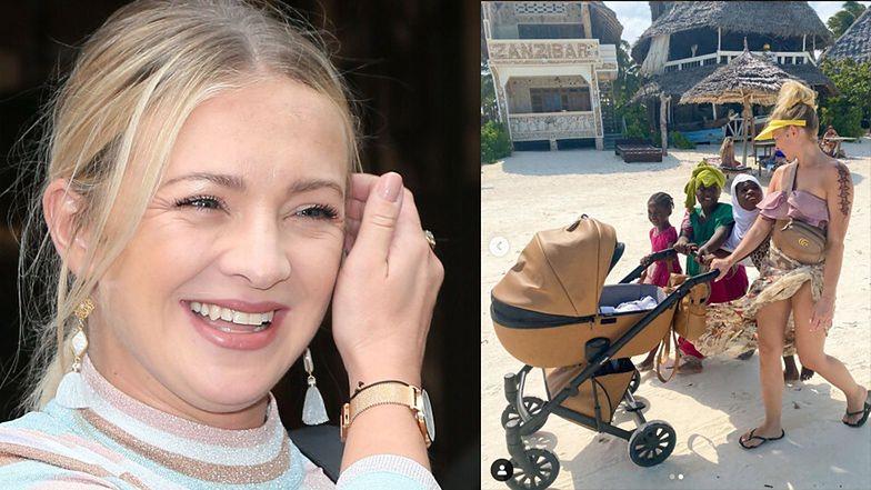 Barbara Kurdej-Szatan reklamuje wózek na tle dzieci z Zanzibaru (FOTO)