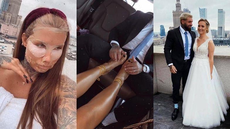 Odpicowani Deynn i Majewski relacjonują ślub siostry Daniela: nawilżające maseczki, zdjęcia z panną młodą i... masaż stóp