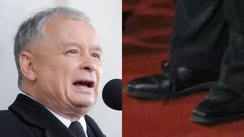 Jarosław Kaczyński założył DWA RÓŻNE BUTY na Zjazd Republikański Adama Bielana (FOTO)