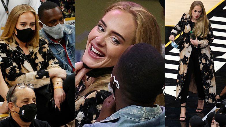 Dawno niewidziana Adele dokazuje na meczu NBA w towarzystwie TAJEMNICZEGO MĘŻCZYZNY (ZDJĘCIA)