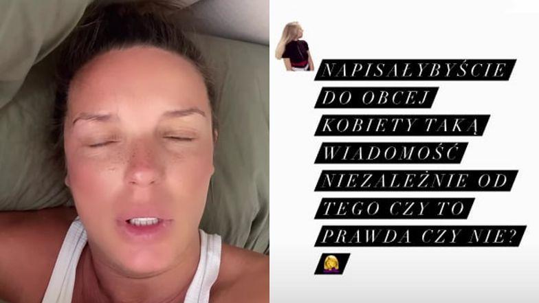 """Agnieszka Włodarczyk publicznie gani ciekawską internautkę: """"Napisalibyście do OBCEJ KOBIETY taką wiadomość?"""""""