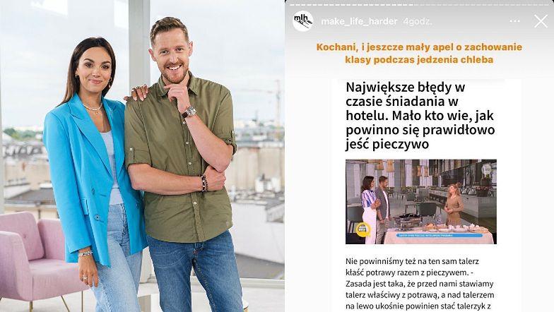 """""""Ekspertka"""" savoir vivre'u instruuje kobiety w """"Dzień Dobry TVN"""": """"DAMY KANAPEK NIE JEDZĄ"""""""