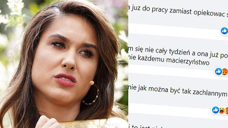 """Ida Nowakowska ostro krytykowana za szybki powrót do pracy po porodzie: """"Dziecko potrzebuje CIEPŁA MATKI"""""""