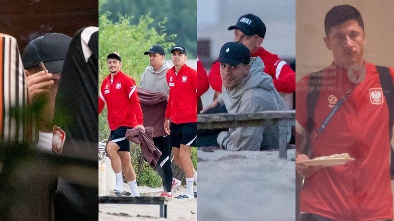 Euro 2020. Reprezentacja Polski relaksuje się na sopockiej plaży do świtu po odpadnięciu z mistrzostw (ZDJĘCIA)