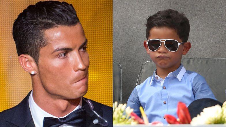 """Cristiano Ronaldo o urokach życia swoich dzieci: """"Jak widzę syna z Colą, to WPADAM W SZAŁ"""""""