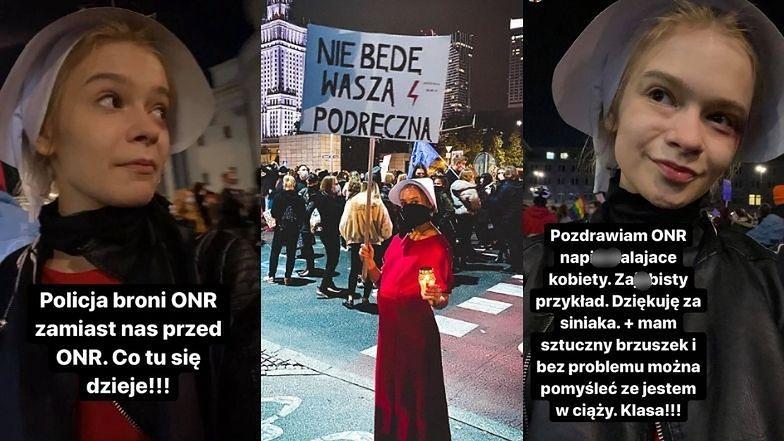 """Julia Wróblewska POBITA podczas manifestacji w Warszawie? """"Pozdrawiam ONR napie**alające kobiety"""""""