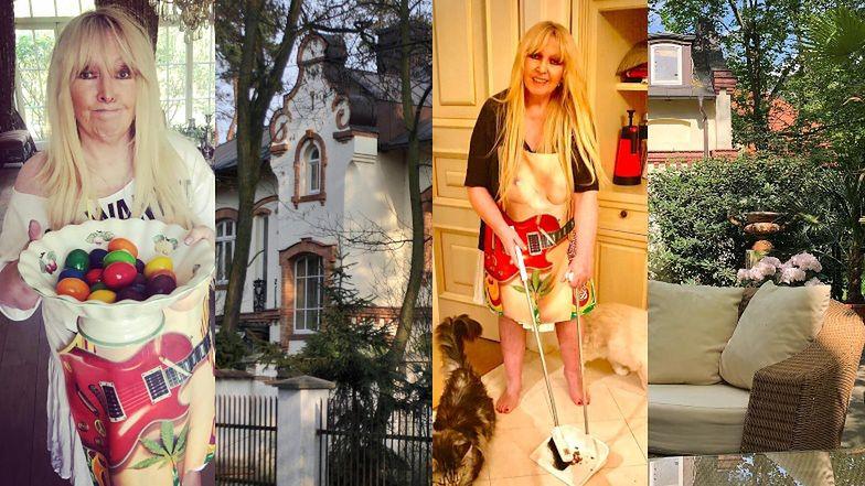 Tak mieszka Maryla Rodowicz: nawiedzona willa, majestatyczny ogród i słynne ZŁOTE KRANY (ZDJĘCIA)