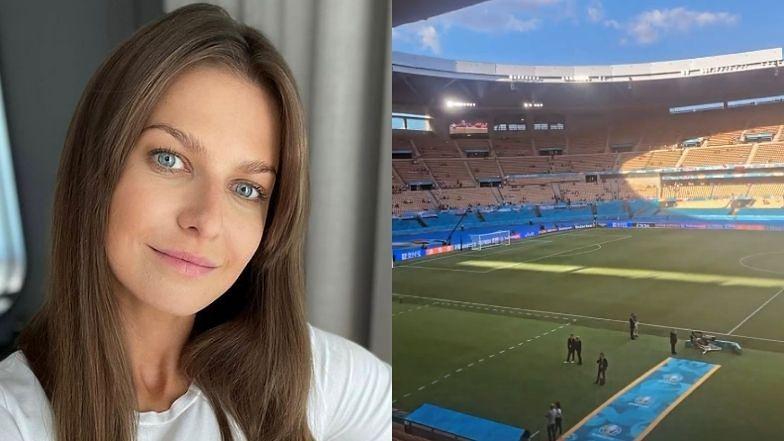 Euro 2020. Anna Lewandowska poleciała do Sewilli na mecz Polska - Hiszpania (ZDJĘCIA)