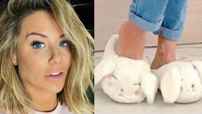 """Odświętna Małgorzata Rozenek chwali się pantoflami w króliczki i wspomina: """"Normalnie w Wielką Sobotę szliśmy ze święconką"""""""