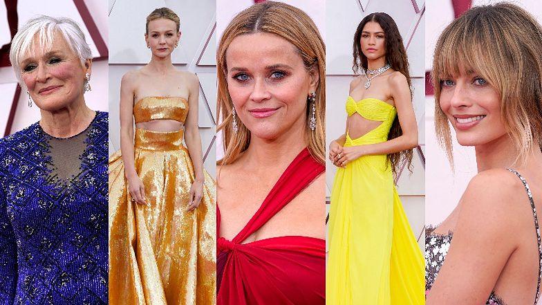 Oscary 2021: Zobaczcie kreacje największych gwiazd z czerwonego dywanu! (DUŻO ZDJĘĆ)