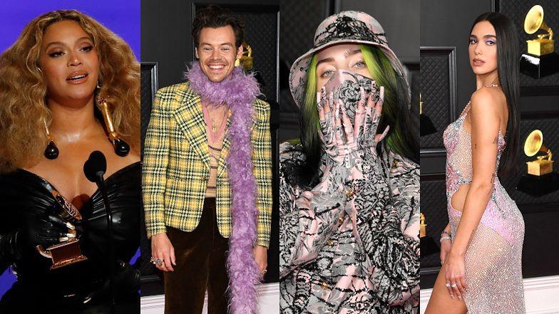 Grammy 2021. Gwiazdy światowej muzyki podbijają czerwony dywan: Beyoncé, Taylor Swift, Harry Styles, Dua Lipa (ZDJĘCIA)
